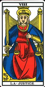 Carte de tarot La Justice