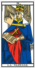 carte de tarot la papesse