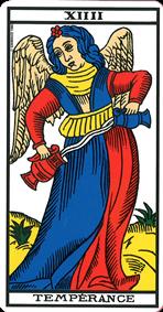Carte de tarot la Tempérance