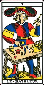 carte de tarot le bateleur