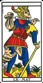 carte de tarot le mat