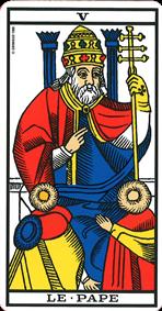 carte de tarot le pape