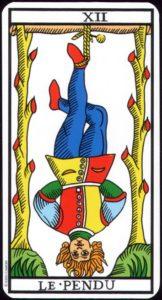 Carte de tarot le Pendu