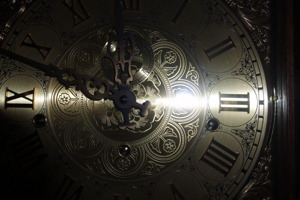 Cadran d'une montre en or